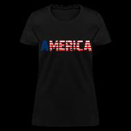 T-Shirts ~ Women's T-Shirt ~ America Girls T Shirt