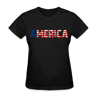 Women's T-Shirts ~ Women's T-Shirt ~ America Girls T Shirt