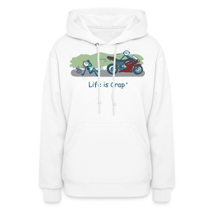 Biker Dude - Womens Hooded Sweatshirt - Women's Hoodie