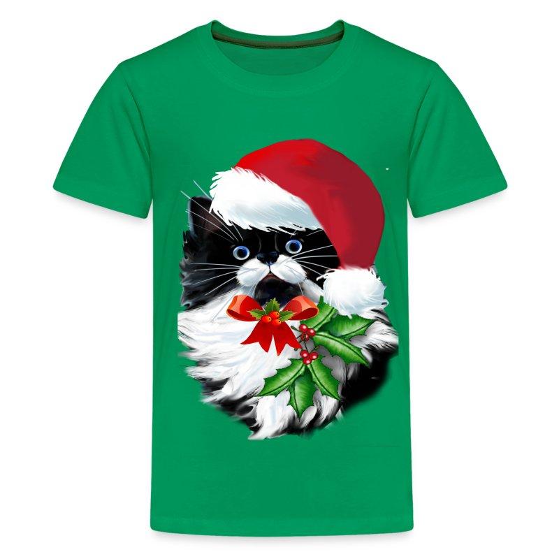 Tuxedo Kitty at Christmas - Kids' Premium T-Shirt