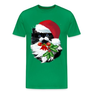 Tuxedo Kitty at Christmas - Men's Premium T-Shirt