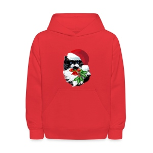 Tuxedo Kitty at Christmas - Kids' Hoodie