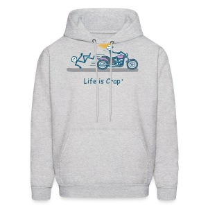 Biker Babe - Mens Hooded Sweatshirt - Men's Hoodie