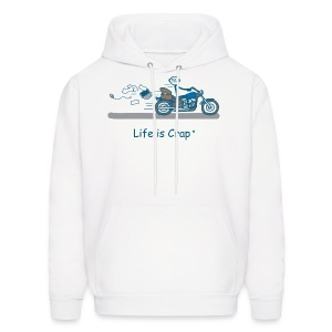 Motorcycle Bag - Mens Hooded Sweatshirt - Men's Hoodie