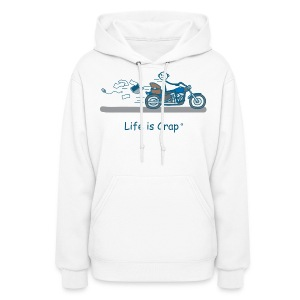 Motorcycle Bag - Womens Hooded Sweatshirt - Women's Hoodie