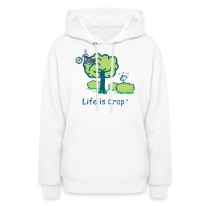 Motorcycle in a Tree - Womens Hooded Sweatshirt - Women's Hoodie