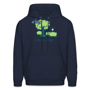 Motorcycle in a Tree - Mens Hooded Sweatshirt - Men's Hoodie
