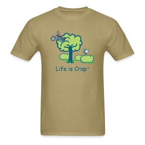 Motorcycle in a Tree - Men's T-Shirt