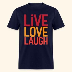 LiveLoveLaugh OG Stacked - Men's T-Shirt