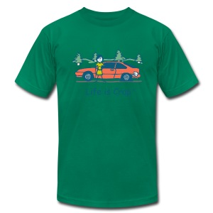 Flat Tire - Men's T-Shirt by American Apparel