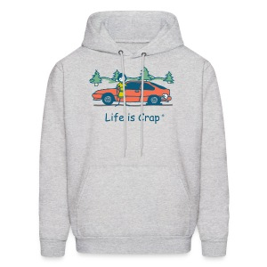 Flat Tire - Mens Hooded Sweatshirt - Men's Hoodie