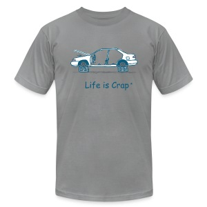 Car on Blocks  - Men's T-Shirt by American Apparel