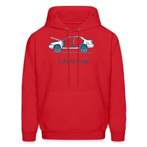 Car on Blocks - Mens Hooded Sweatshirt - Men's Hoodie