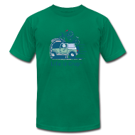 T-Shirts ~ Men's T-Shirt by American Apparel ~ Jeep Mountain Bike Overpass