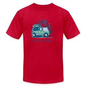 Jeep Mountain Bike Overpass - Men's T-Shirt by American Apparel