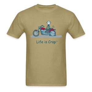 Motorcycle Flat - Men's T-Shirt
