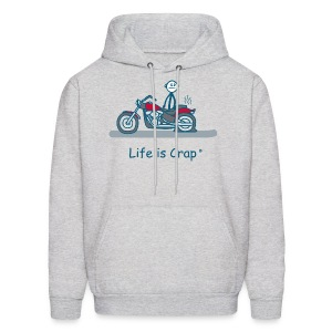 Motorcycle Flat - Mens Hooded Sweatshirt - Men's Hoodie