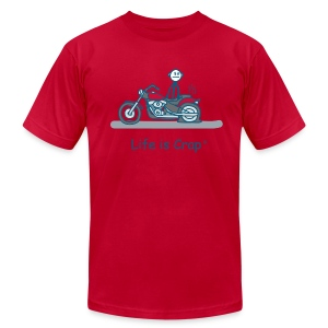 Motorcycle Flat - Men's T-Shirt by American Apparel