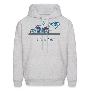 Motorcycle Babe - Mens Hooded Sweatshirt - Men's Hoodie