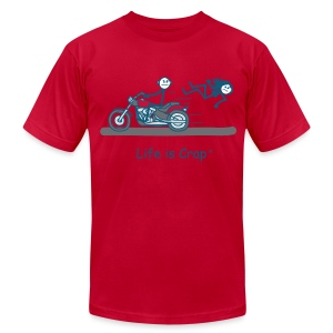 Motorcycle Babe - Men's T-Shirt by American Apparel