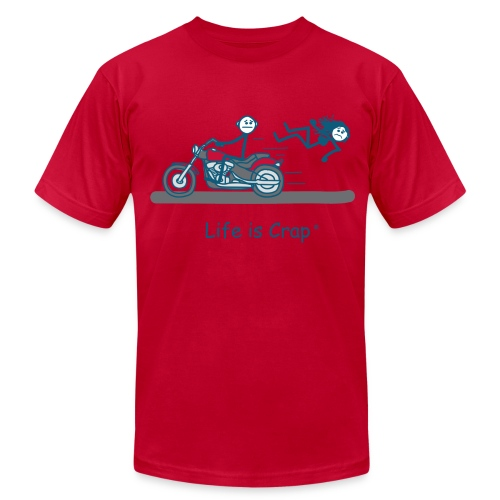 Motorcycle Babe - Men's Fine Jersey T-Shirt