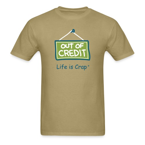 Out Of Credit - Mens Classic T-shirt - Men's T-Shirt