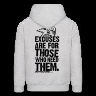Hoodies ~ Men's Hoodie ~ Excuses are for those | Mens Hoodie (back print)