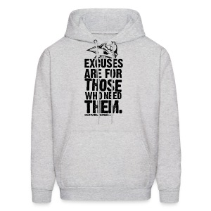 Excuses are for those | Mens Hoodie (back print) - Men's Hoodie