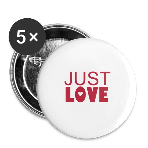 Just Love. buttons, pins,  - Large Buttons