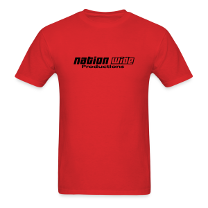 Black on Red Tee - Men's T-Shirt