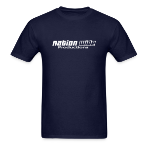 White on Navy Tee - Men's T-Shirt