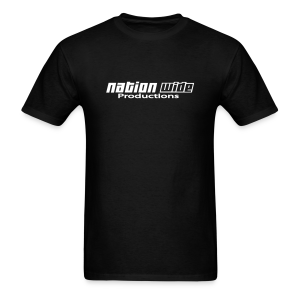 White on Black Tee - Men's T-Shirt