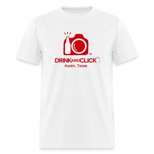 Men's White T-Shirt Austin, Texas - Drink and Click  - Men's T-Shirt