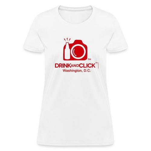 Women's White T-Shirt Washington D.C. - Drink and Click  - Women's T-Shirt