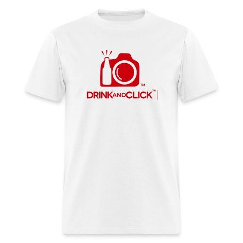 Men's White T-Shirt Drink and Click  - Men's T-Shirt