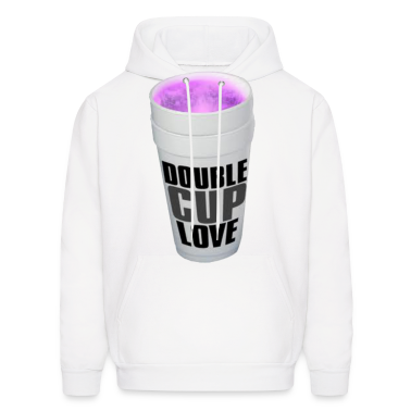 Double cup love. Hoodies