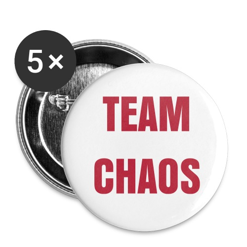 TEAM CHAOS Buttons - Buttons large 2.2'' (5-pack)