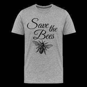 Save the Bees Beekeeper T-Shirt - Men's Premium T-Shirt