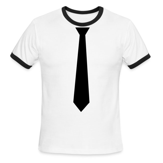 Black static records shop tie rep like a boss mens ringer t shirt tie rep like a boss ccuart Image collections