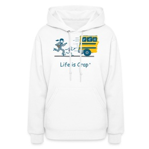 School Bus - Womens Hooded Sweatshirt - Women's Hoodie