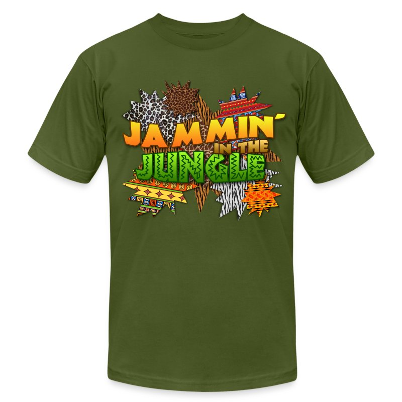 Jammin' in the Jungle - Men's T-Shirt by American Apparel
