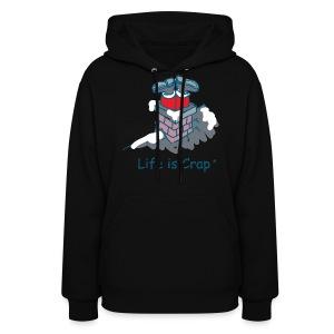 Santa Stuck - Womens Hooded Sweatshirt - Women's Hoodie