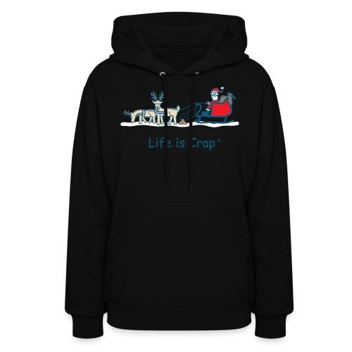 Reindeer Poop - Womens Hooded Sweatshirt - Women's Hoodie