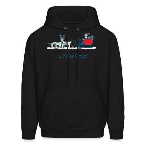 Reindeer Poop - Mens Hooded Sweatshirt - Men's Hoodie