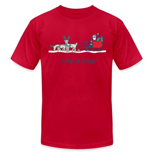 Reindeer Poop - Mens T-shirt by American Apparel - Men's  Jersey T-Shirt