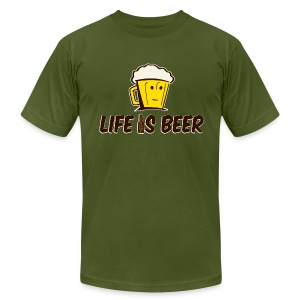 LIFE IS BEER  - Men's T-Shirt by American Apparel