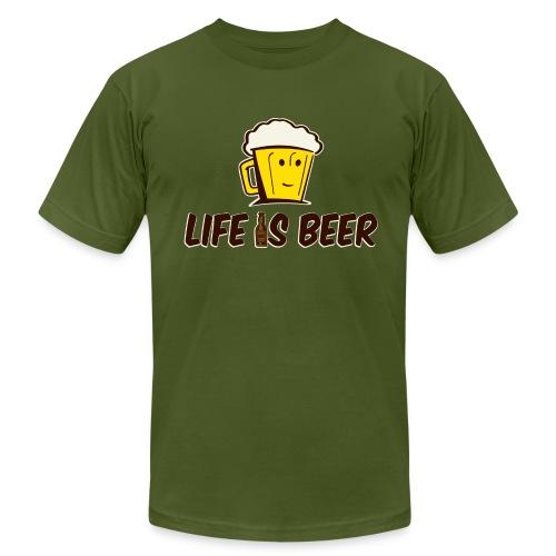 LIFE IS BEER  - Men's Fine Jersey T-Shirt