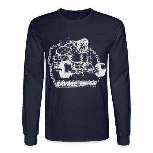 Beast Long Sleeve Shirt - Navy - Men's Long Sleeve T-Shirt