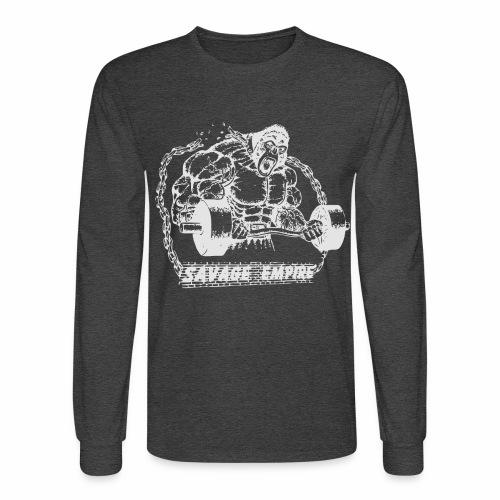 Beast Long Sleeve Shirt - Heather Black - Men's Long Sleeve T-Shirt