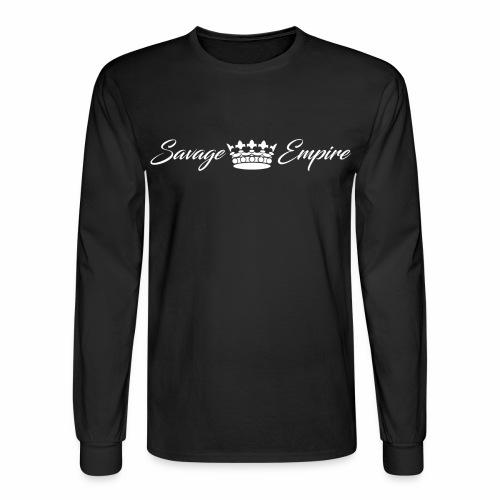 Crown Black Longsleeve - Men's Long Sleeve T-Shirt